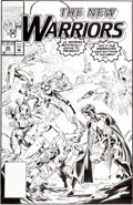 Original Comic Art:Covers, Mark Bagley and Larry Mahlstedt The New Warriors #26 CoverOriginal Art (Marvel, 1992)....
