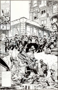 Original Comic Art:Covers, Jim Valentino and Tom Morgan Guardians of the Galaxy #18Cover Original Art (Marvel, 1991)....