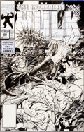 Original Comic Art:Covers, Dale Keown The Incredible Hulk #385 Cover Original Art(Marvel, 1991)....