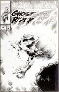 Original Comic Art:Covers, Sam Kieth Marvel Comics Presents #94 Ghost Rider CoverOriginal Art (Marvel, 1992)....