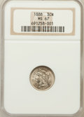 Three Cent Nickels, 1888 3CN MS67 NGC....