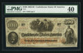 Confederate Notes:1862 Issues, San Antonio, TX T41 $100 1862.. ...