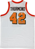 Basketball Collectibles:Uniforms, Nate Thurmond Signed Throwback Jerseys Lot of 2. ...