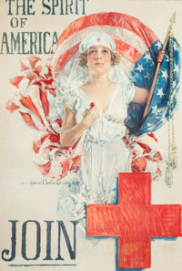 HOWARD CHANDLER CHRISTY (American, 1872-1952) The Spirit of America, Join, 1919 Color lithograph