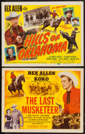 "Movie Posters:Western, Rex Allen Lot (Republic, 1950). Autographed Title Lobby Cards (2)(11"" X 14""). Western.. ... (Total: 2 Items)"