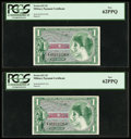 Military Payment Certificates:Series 651, Series 651 $1 Two Consecutive Examples PCGS New 62PPQ. ... (Total: 2 notes)
