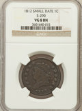 Large Cents, 1812 1C Small Date, S-290, B-2, R.1 VG8 NGC. PCGS Population(0/3)....