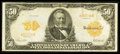 Large Size:Gold Certificates, Fr. 1199 $50 1913 Gold Certificate Very Fine.. ...