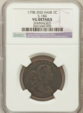 Large Cents, 1798 1C Second Hair Style -- Damage -- NGC Details. VG. S-184. NGCCensus: (2/95). PCGS Population (8/281). Numismedi...