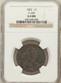 Large Cents, 1802 1C Good 4 NGC. S-240. NGC Census: (3/332). PCGS Population(6/419). Mintage: 3,435,100. Numismedia Wsl. Price for prob...
