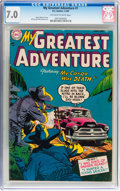 Golden Age (1938-1955):Horror, My Greatest Adventure #1 (DC, 1955) CGC FN/VF 7.0 Off-white towhite pages....