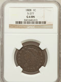 Large Cents, 1808 1C Good 6 NGC. S-277. NGC Census: (1/67). PCGS Population(3/127). Mintage: 1,007,000. Numismedia Wsl. Price for probl...