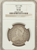 Bust Half Dollars, 1817 50C VF20 NGC. O-109. NGC Census: (13/399). PCGS Population(22/561). Mintage: 1,215,567. Numismedia Wsl. Price for pro...
