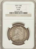 Bust Half Dollars, 1810 50C Fine 15 NGC. O-108. NGC Census: (7/610). PCGS Population(20/673). Mintage: 1,276,276. Numismedia Wsl. Price for p...