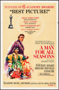 "Movie Posters:Academy Award Winners, A Man For All Seasons (Columbia, 1966). One Sheet (27"" X 41"") StyleC. Academy Award Winners.. ..."