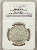Bust Half Dollars, 1811 50C Small 8 -- Improperly Cleaned -- NGC Details. VF. O-110a.PCGS Population (9/410)....