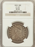 Bust Half Dollars, 1823 50C VF25 NGC. O-107. NGC Census: (20/679). PCGS Population(24/788). Mintage: 1,694,200. Numismedia Wsl. Price for pro...