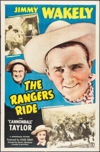 "The Rangers Ride (Monogram, 1948). One Sheet (27"" X 41""). Western"