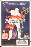 """Movie Posters:Science Fiction, The Amazing Transparent Man (Miller-Consolidated Pictures, 1959). One Sheet (27"""" X 41""""). Science Fiction.. ..."""