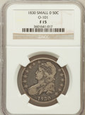 Bust Half Dollars, 1830 50C Small 0 Fine 15 NGC. O-101. NGC Census: (15/1738). PCGSPopulation (14/1590). Mintage: 4,764,800. Numismedia Wsl. ...