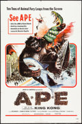 """Movie Posters:Science Fiction, Ape (World Wide, 1976). One Sheet (27"""" X 41""""). Science Fiction....."""