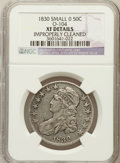 Bust Half Dollars, 1830 50C Small 0 -- Improperly Cleaned -- NGC Details. XF. O-104.NGC Census: (102/1470). PCGS Population (146/1240). Minta...