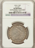 Bust Half Dollars, 1818 50C -- Improperly Cleaned -- NGC Details. XF. O-107. NGCCensus: (50/547). PCGS Population (90/492). Mintage: 1,96...
