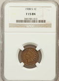 Indian Cents: , 1908-S 1C Fine 15 NGC. NGC Census: (128/2682). PCGS Population(137/1951). Mintage: 1,115,000. Numismedia Wsl. Price for pr...