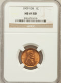 Lincoln Cents: , 1909 VDB 1C MS64 Red and Brown NGC. NGC Census: (1121/1117). PCGSPopulation (2149/1199). Mintage: 27,995,000. Numismedia W...
