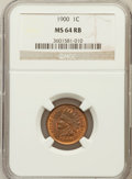 Indian Cents: , 1900 1C MS64 Red and Brown NGC. NGC Census: (362/212). PCGSPopulation (308/78). Mintage: 66,833,764. Numismedia Wsl. Price...