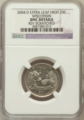 Statehood Quarters, 2004-D 25C Wisconsin Extra Leaf High -- Rev Scratched -- NGCDetails. UNC. NGC Census: (0/46). PCGS Population (0/1265)...