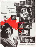 "Movie Posters:Horror, Blood of the Vampire (Sofradis, R-1973). French Grande (46"" X 59""). Horror.. ..."