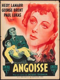 """Experiment Perilous (RKO, 1947). French Affiche (23.5"""" X 31.5""""). Thriller"""