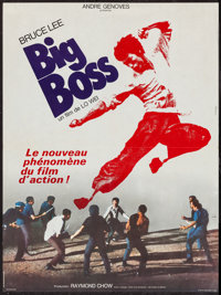 "Fists of Fury (Crest Film, 1973). French Affiche (22.5"" X 30.5""). Action. French Title: Big Boss"