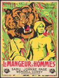 """Movie Posters:Adventure, Man Eater of Kumaon (Universal, 1948). French Affiche (23.5"""" X31.5""""). Adventure.. ..."""