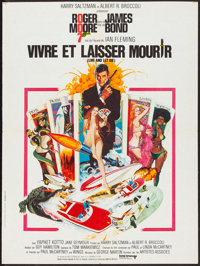 """Live and Let Die (United Artists, 1973). French Affiche (23.5"""" X 31.5""""). James Bond"""