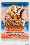"Movie Posters:Comedy, Blazing Saddles (Warner Brothers, 1974). One Sheet (27"" X 41"") FlatFolded. Comedy.. ..."