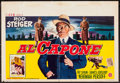 "Movie Posters:Crime, Al Capone (Allied Artists, 1959). Belgian (14"" X 20.5""). Crime....."