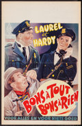 "Movie Posters:Comedy, The Midnight Patrol (LER, R-1950s). Belgian (14.5"" X 22.25"").Comedy.. ..."