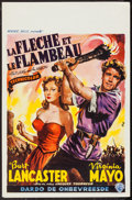 "Movie Posters:Adventure, The Flame and the Arrow (Warner Brothers, 1950). Belgian (14"" X22""). Adventure.. ..."