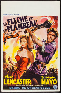 "The Flame and the Arrow (Warner Brothers, 1950). Belgian (14"" X 22""). Adventure"