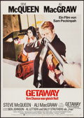 "Movie Posters:Action, The Getaway (Warner, R-1980). German A1 (23.5"" X 33""). Action.. ..."