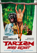 "Movie Posters:Adventure, Tarzan and the Huntress (MGM, R-1970s). German A1 (23.25"" X 33"").Adventure.. ..."