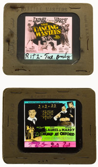 """A Chump at Oxford & Other Lot (United Artists, 1940). Glass Slides (2) (3.25"""" X 4""""). Comedy. ... (Tota..."""
