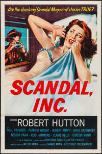 "Scandal, Inc. (Republic, 1956). One Sheet (27"" X 41"") Flat Folded. Crime"