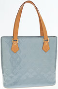Luxury Accessories:Bags, Louis Vuitton Light Blue Vernis Monogram Leather Houston ShoulderBag. ...