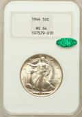 Walking Liberty Half Dollars: , 1944 50C MS64 NGC. CAC. NGC Census: (2796/4078). PCGS Population(4452/5344). Mintage: 28,206,000. Numismedia Wsl. Price fo...