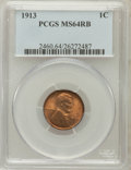 Lincoln Cents: , 1913 1C MS64 Red and Brown PCGS. PCGS Population (202/46). NGCCensus: (123/65). Mintage: 76,532,352. Numismedia Wsl. Price...