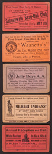 Baseball Collectibles:Tickets, Early 1900's Baseball and Non Sports Benefit Tickets Lot of 5....