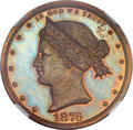 Patterns, 1876 $1 Sailor Head Dollar, Judd-1465, Pollock-1616, High R.7, PR65Red and Brown NGC. CAC....